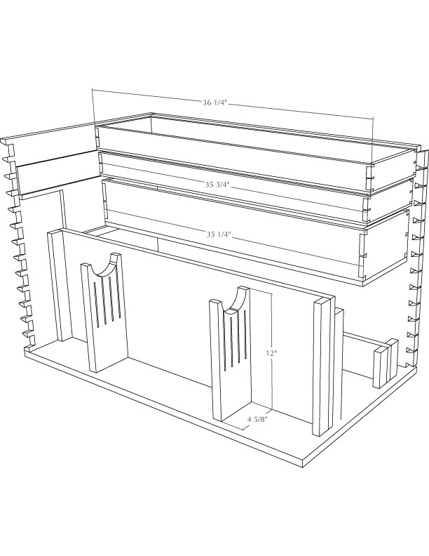 simple wood chest plans