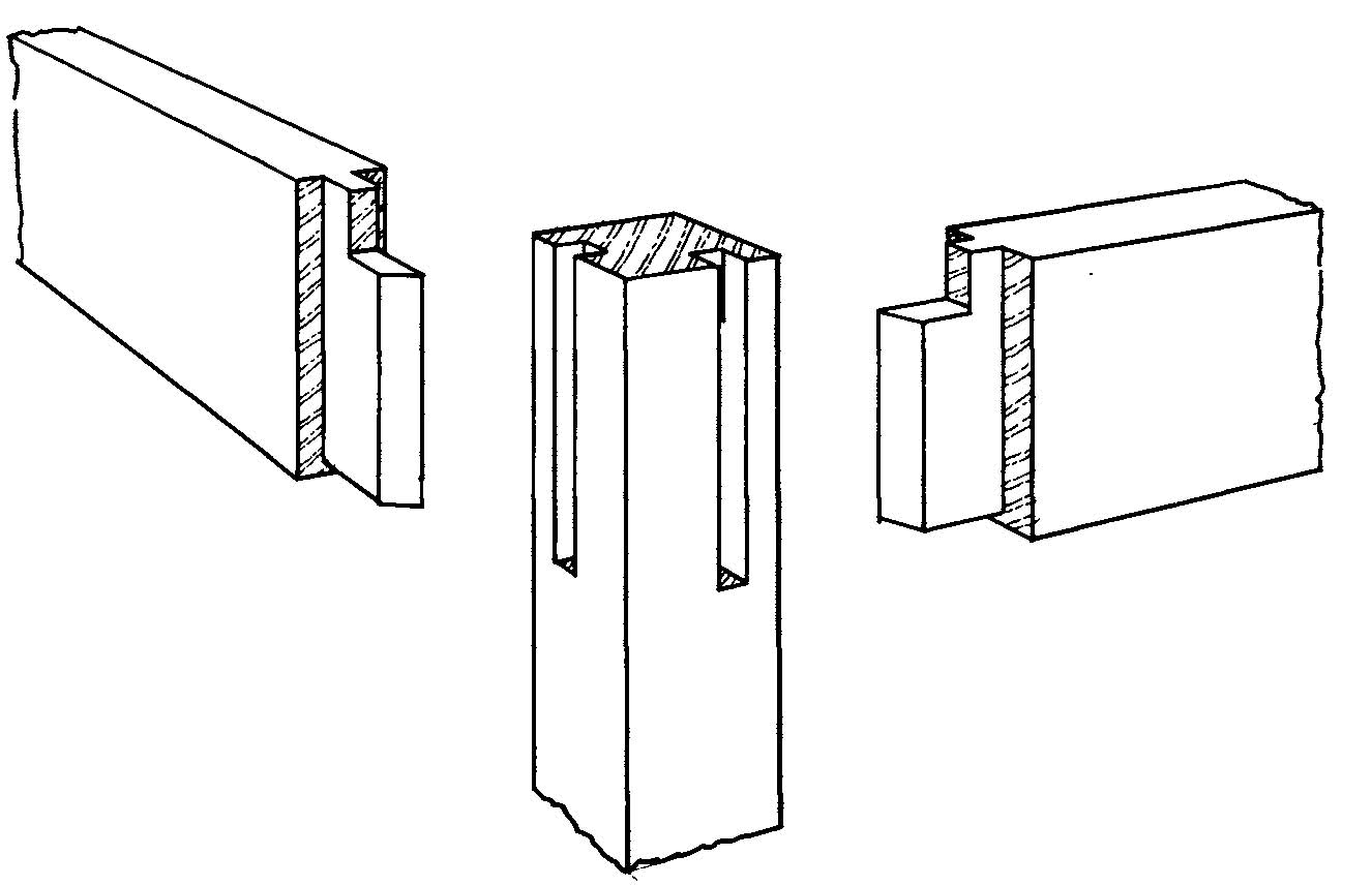 Make a table or stool part 2 marking out the joints for Table joints