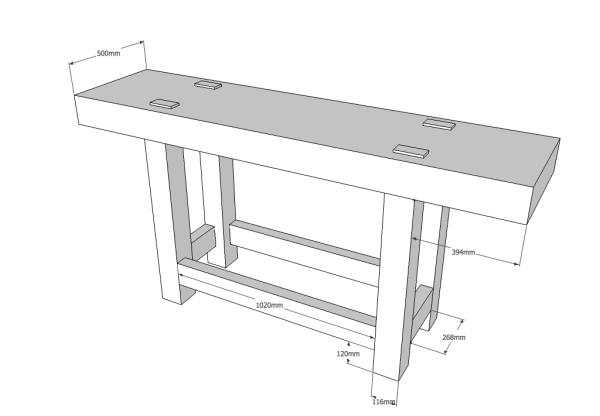 Sketchup Plans For The Metric Roubo Lost Art Press