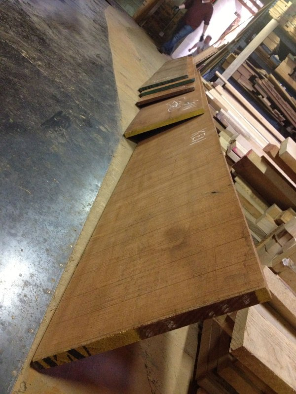 "Lots more mahogany in 16"" and 18"" widths. No knots."