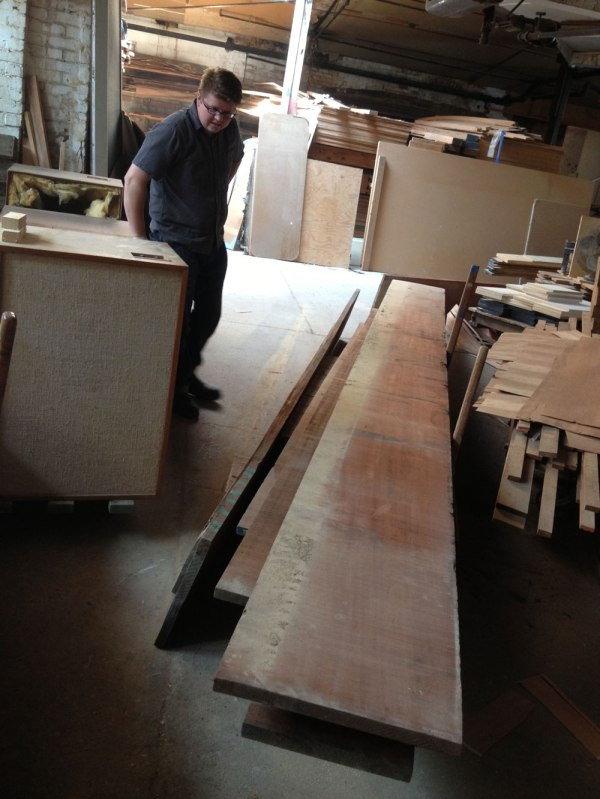 "Another of many 18""-wide mahogany boards. That's not sapwood. It's dust."