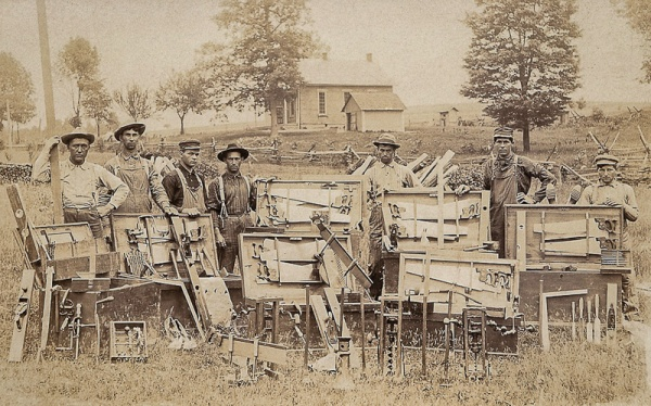 Seven Carpenters with their Tool Chests