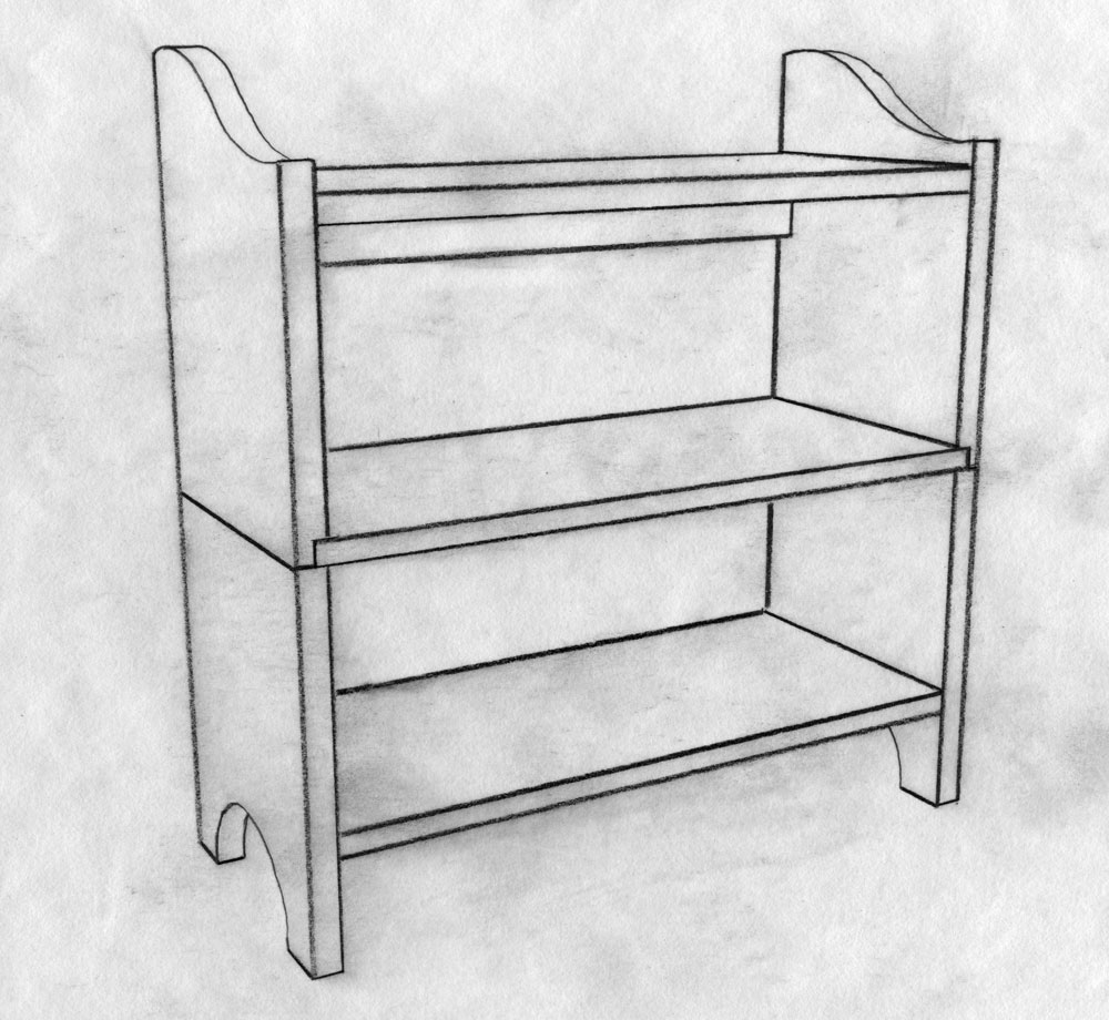 folding shelves to build - Folding Bookshelves