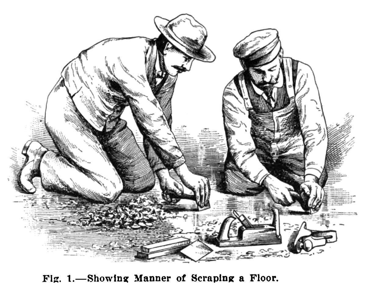 Laying And Finishing Hardwood Floors Lost Art Press - Hardwood floor scraping tools
