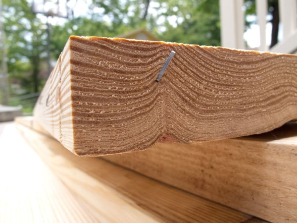 Look for tight growth rings. These boards will be denser and more durable.