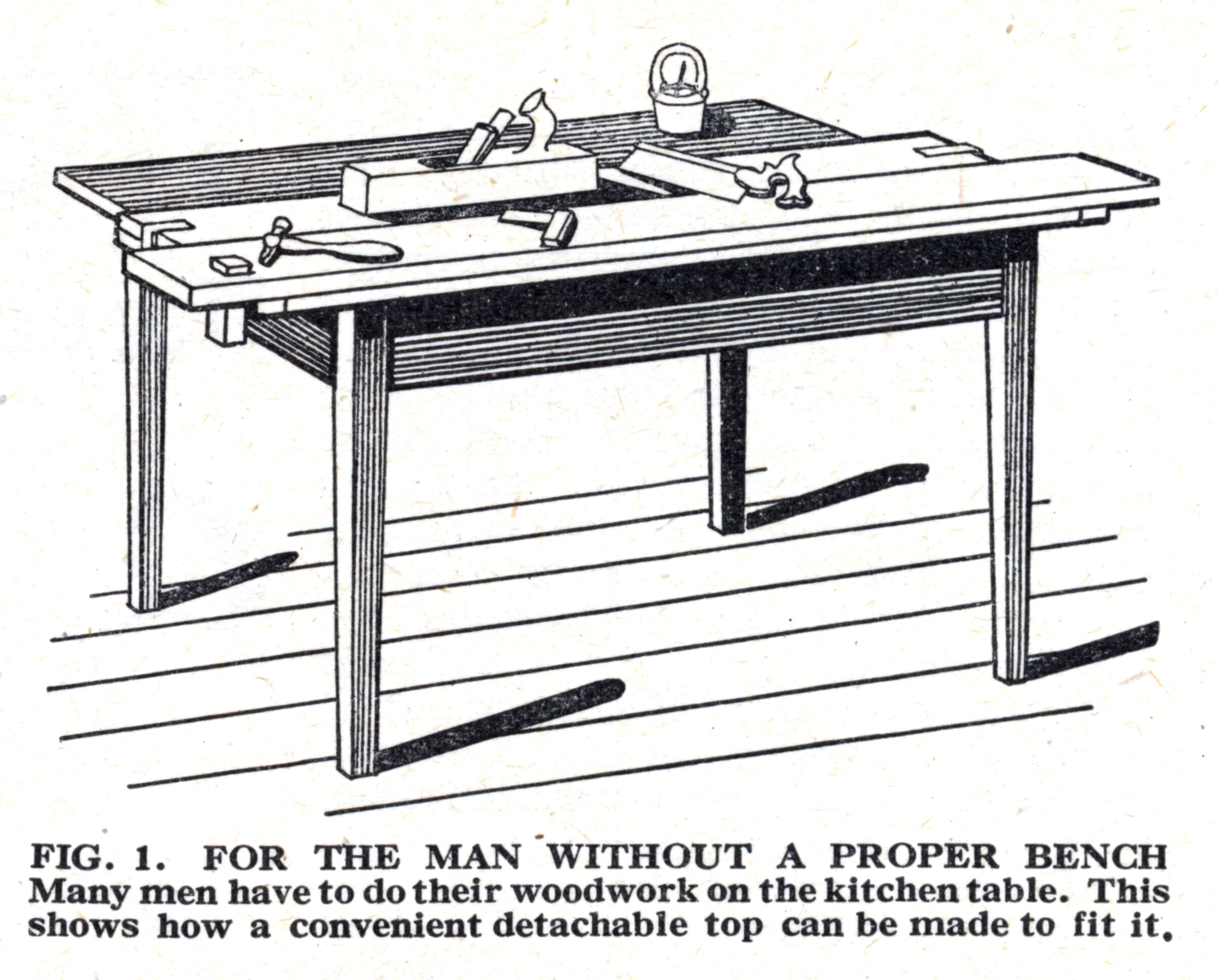Kitchen Table Workbench From The Woodworker Lost Art Press