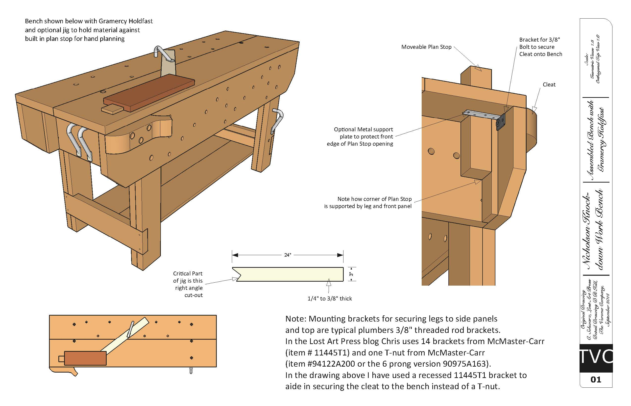 Download Free Plans For The Knockdown Nicholson Workbench Lost