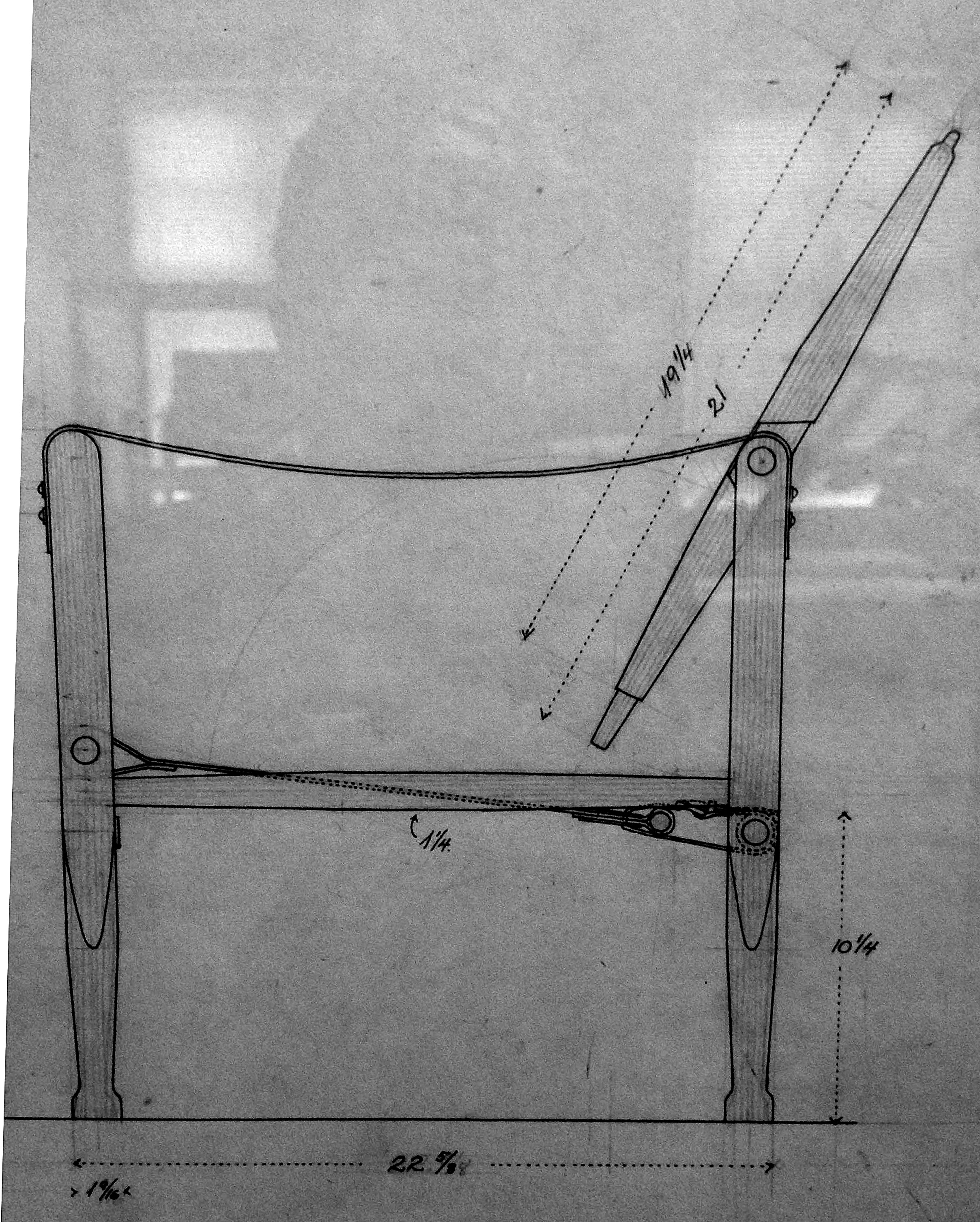 Chair Construction Drawings Because This Drawing is Scaled