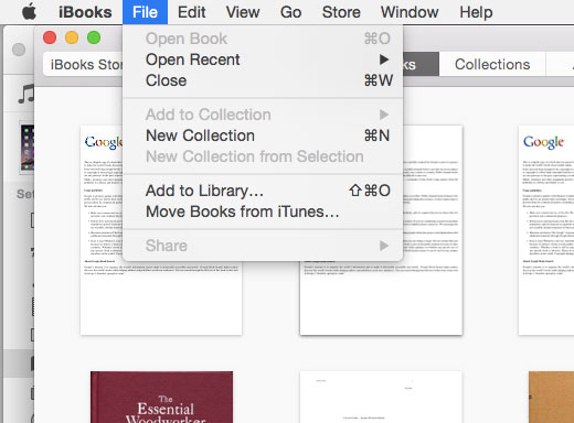 how to manually add a pdf to ibooks