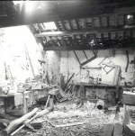 Interior of the Carpenter's Workshop before restoration.