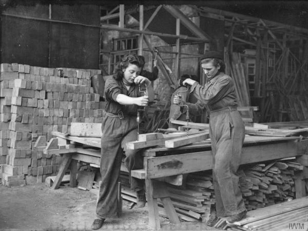 Somewhere in Britain building housing in 1941.