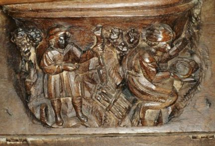 Carvers? Maybe? 16th c., Church of Notre Dame, Lorris, France.