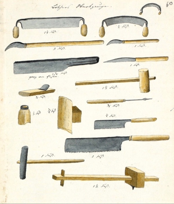 Japanese cooper's tools.