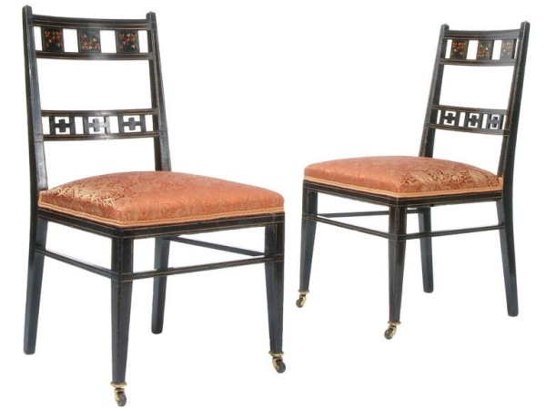 Side chairs, American, 1880-85.