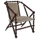 Hunzinger armchair, American, 1875, with spindle turnings and ball terminals.