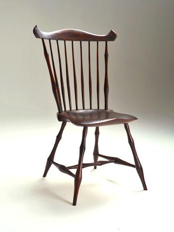 Fan Back Side Chair by Peter