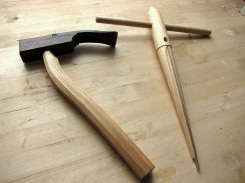 Tim Manney produces the adze and reamer.