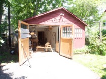 Peter's home workshop in Boston.
