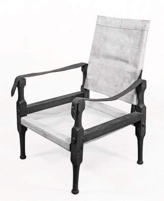 Though they use different joinery and turnings, these Roorkee chairs function in the same manner to travel with ease and adapt to any terrain. (Courtesy of the Council of the National Army Museum, London)