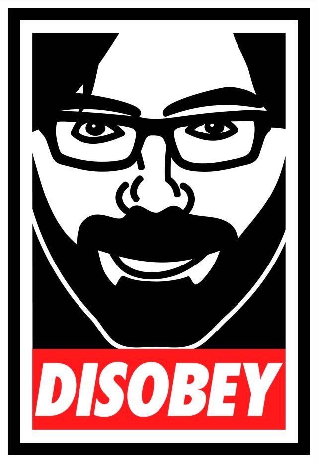 DISOBEY-Sticker