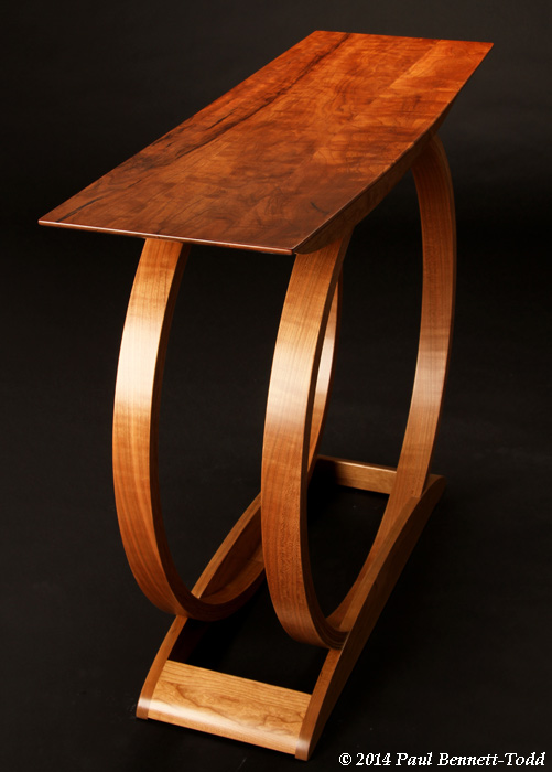 Omega Hall/Console Table (2014). American cherry.