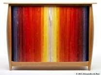 Torpedore (2013). American cherry, hard maple, dye and lacquer.