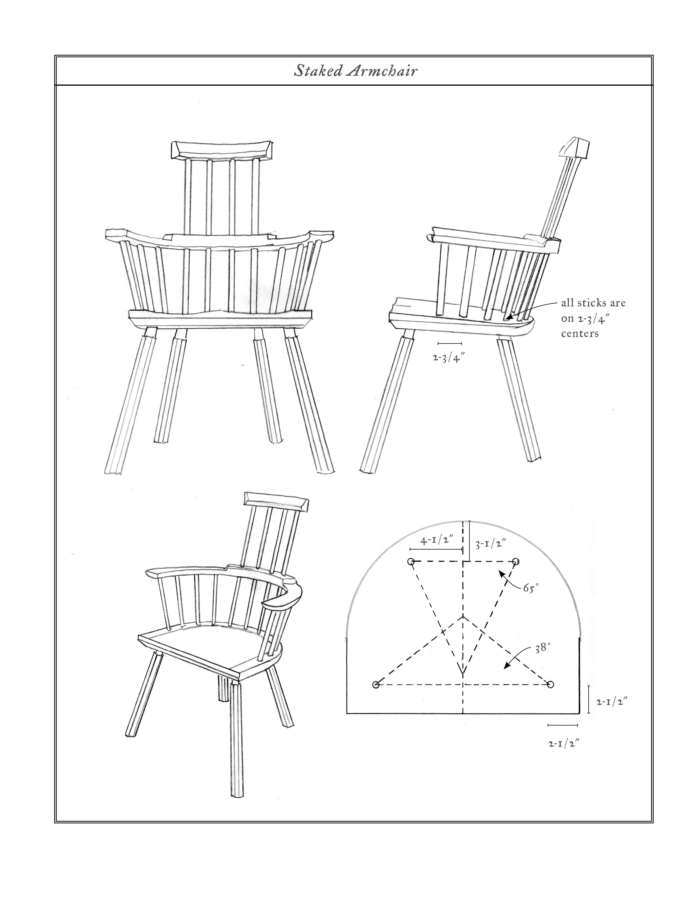 Some Specifications to the White Oak Stick Chair