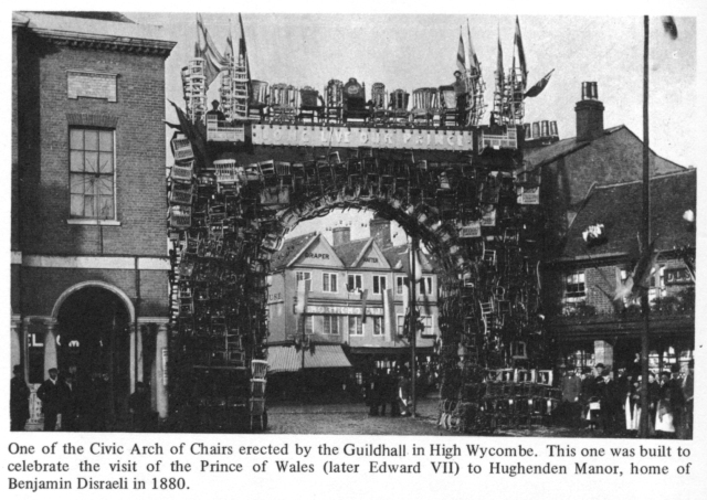 civic arch of chairs High Wycombe